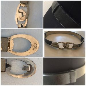 Chico's Accessories - CHICO's Silver Etched Detail Ring Hook Belt